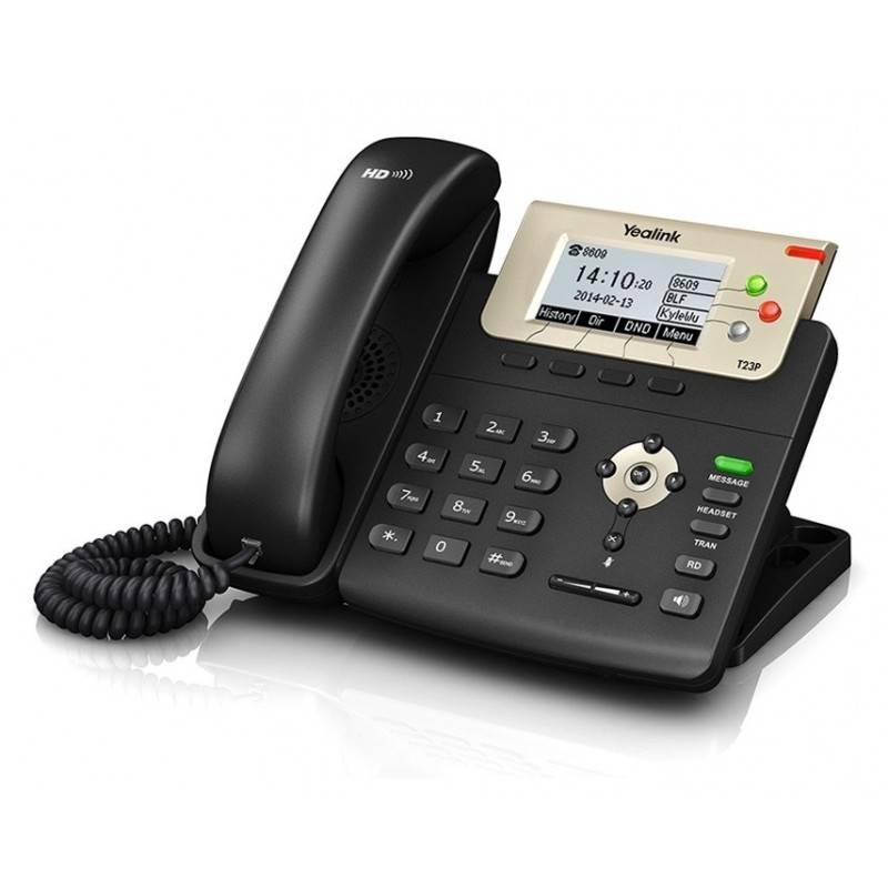 Yealink SIP-T23P โทรศัพท์แบบ IP (IP-Phone) จอ LCD รองรับ 3 SIP Account, HD Voice รองรับ POE