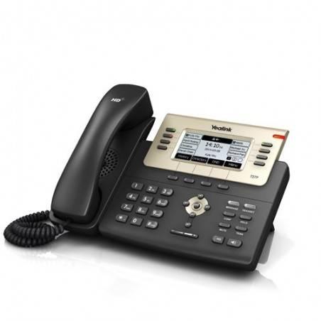 Yealink SIP-T27P โทรศัพท์แบบ IP (IP-Phone) จอ LCD รองรับ 6 SIP Account, HD Voice พร้อม Adapter รองรับ POE