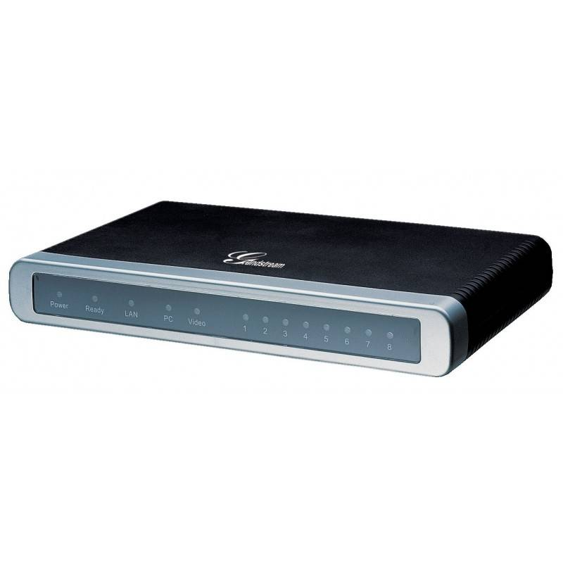 Grandstream GXW-4108 อุปกรณ์ FXO IP Analog Gateway ขนาด 8-Port FXO, 2 Port Lan, T.38 Fax Over IP, QoS VOIP / IP-PBX ระบบโทรศั...