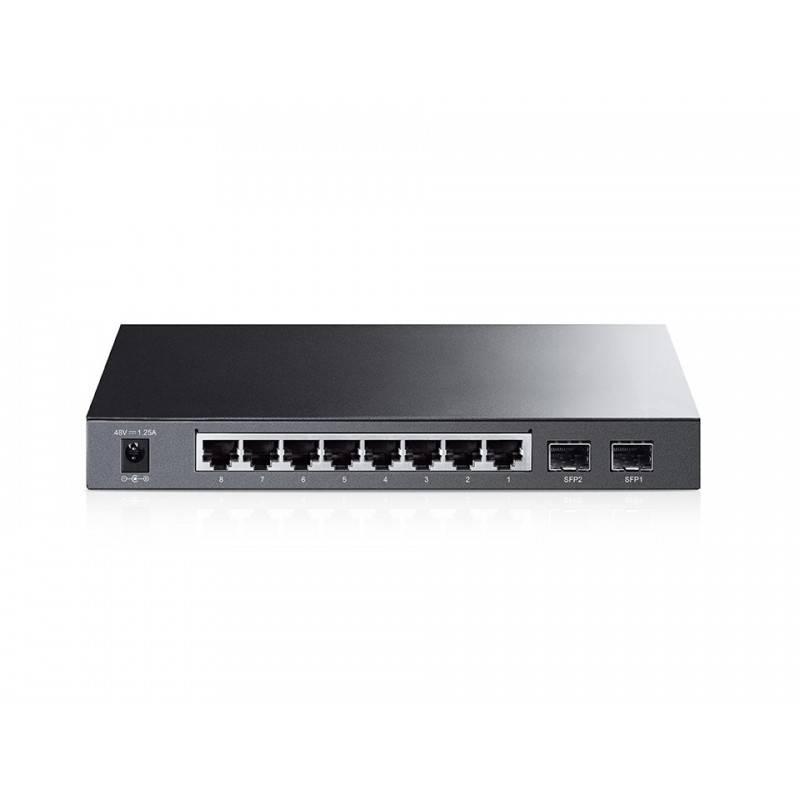 TP-LINK T1500G-10PS (TL-SG2210P) L2-Managed Gigabit POE Switch 8 Port, 2 SFP, 53W Switches เชื่อมเครือข่ายแบบสาย