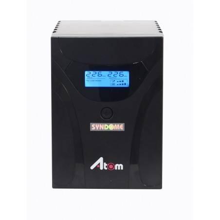 เครื่องสำรองไฟ UPS Syndome ATOM800-LCD แบบมี LCD Display ขนาด 800VA 480Watt