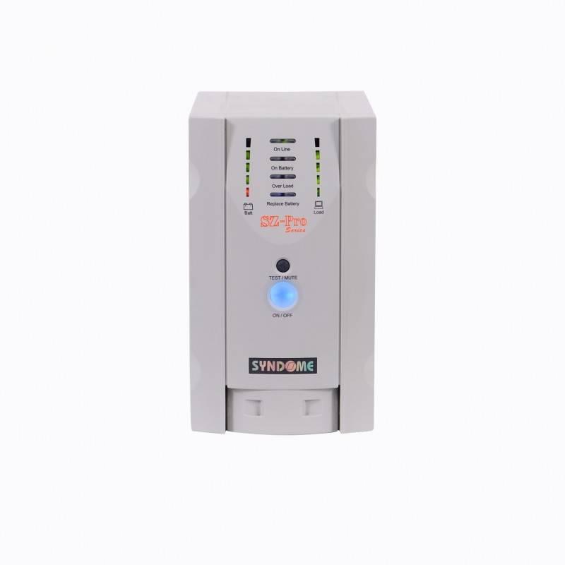 Syndome UPS เครื่องสำรองไฟ เครื่องสำรองไฟ UPS Syndome SZ-1001 Pro ขนาด 1000VA 800Watt พร้อมระบบปรับแรงดันไฟฟ้าอัตโนมัติ (AVR)