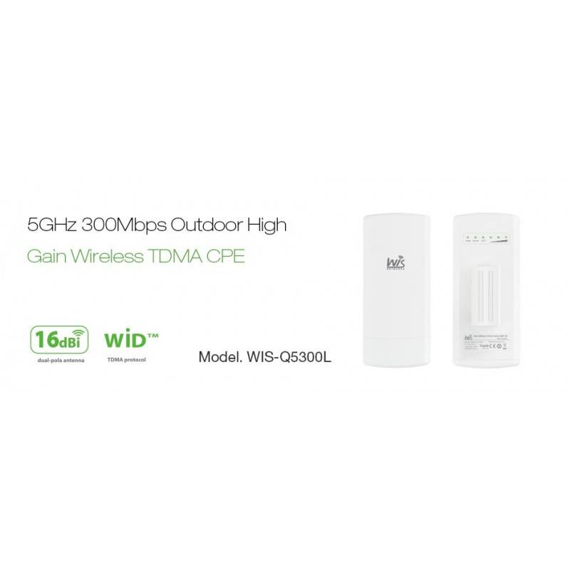 WisNetworks WisNetworks WIS-Q5300L Wireless CPE Outdoor 802.11a/n 5GHz 300Mbps เสา 16dBi พร้อม POE