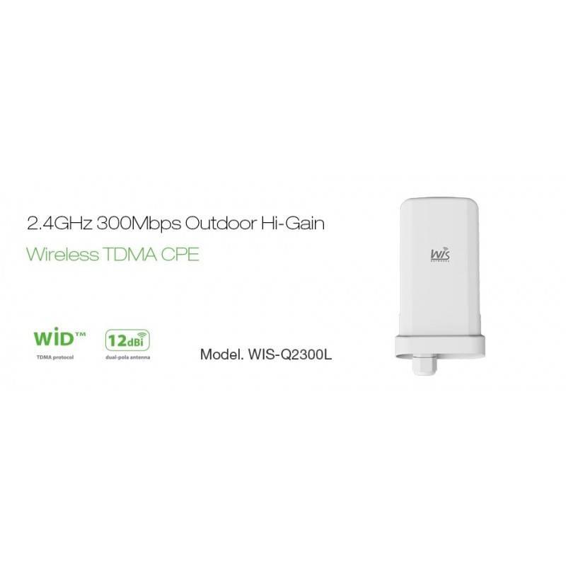WisNetworks WisNetworks (วิช เน็ทเวิร์ค) WisNetworks WIS-Q2300L Wireless CPE ภายนอกอาคาร มาตรฐาน 802.11g/n 2.4GHz ความเร็ว 30...