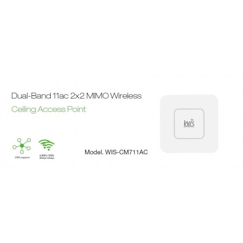 WisNetworks Wireless AccessPoint (กระจายสัญญาณ Wireless) WisNetworks WIS-CM711AC Wireless Access Point มาตรฐาน AC Dual-Band 2...