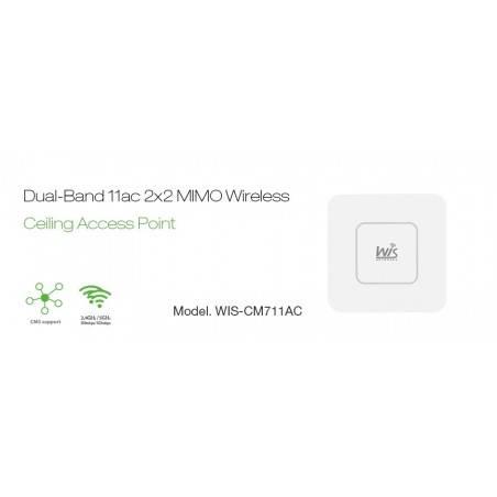 WisNetworks WIS-CM711AC Wireless Access Point มาตรฐาน AC Dual-Band 2.4/5GHz ความเร็วสูงสุด 1167Mbps