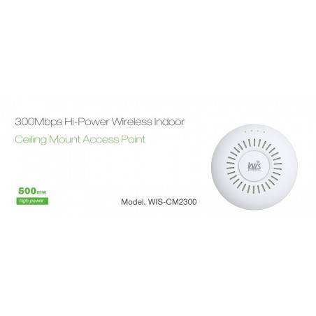 WisNetworks WIS-CM2300 Wireless Access Point ความถี่ 2.4GHz ความเร็ว 300Mbps พร้อม POE