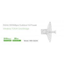 WisNetworks WisNetworks (วิช เน็ทเวิร์ค) WisNetworks WIS-G5250 Wireless Bridge เชื่อมต่อเครือข่ายระยะไกล ความถี่ 5GHz 300Mbps...