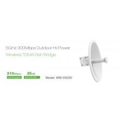 WisNetworks WisNetworks (วิช เน็ทเวิร์ค) WisNetworks WIS-D5250 Wireless Bridge เชื่อมต่อเครือข่ายระยะไกล ความถี่ 5GHz 300Mbps...