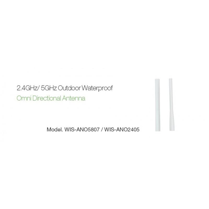 WisNetworks WID-ANO2405 เสาอากาศ Omni แบบภายนอกอาคาร ความถี่ 2.4GHz 5dBi หัวต่อ RP-SMA