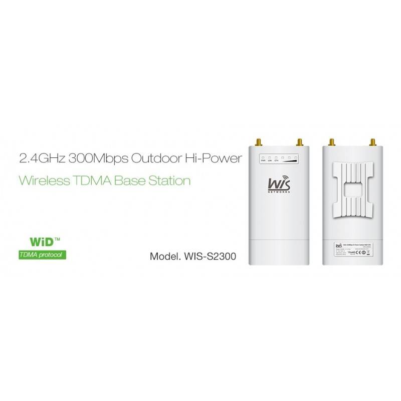 WisNetworks WIS-S2300 Wireless Access Point ความถี่ 2.4GHz ความเร็ว 300Mbps หัวต่อเสา RP-SMA x 2