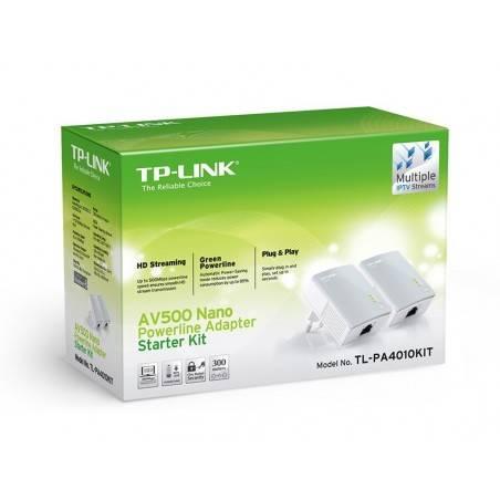 TP-Link TL-PA4010 Kit อุปกรณ์ Powerline Adapter เชื่อมเครือข่าย Network ผ่านสายไฟฟ้าในบ้าน ระยะไกลสุด 300 เมตร