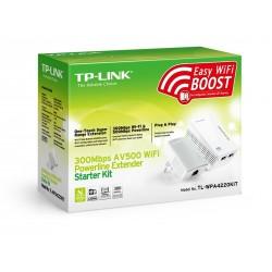 TP-Link TL-WPA4220 Kit อุปกรณ์ Powerline Adapter เชื่อมเครือข่าย Network ผ่านสายไฟฟ้าในบ้าน พร้อมกระจาย Wireless PowerLine Ad...