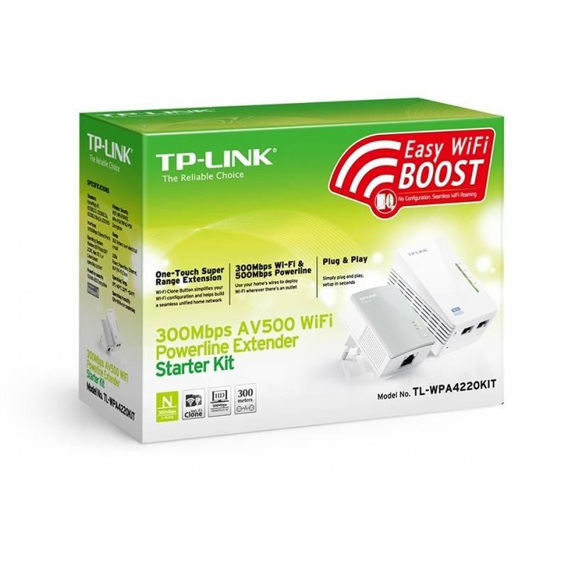PowerLine Adapter TP-Link TL-WPA4220 Kit อุปกรณ์ Powerline Adapter เชื่อมเครือข่าย Network ผ่านสายไฟฟ้าในบ้าน พร้อมกระจาย Wir...