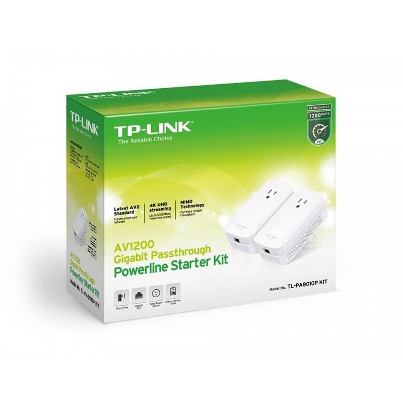 TP-Link TL-PA8010 Kit อุปกรณ์ Powerline Adapter เชื่อมเครือข่าย Network ผ่านสายไฟฟ้าในบ้าน ระยะไกลสุด 300 เมตร