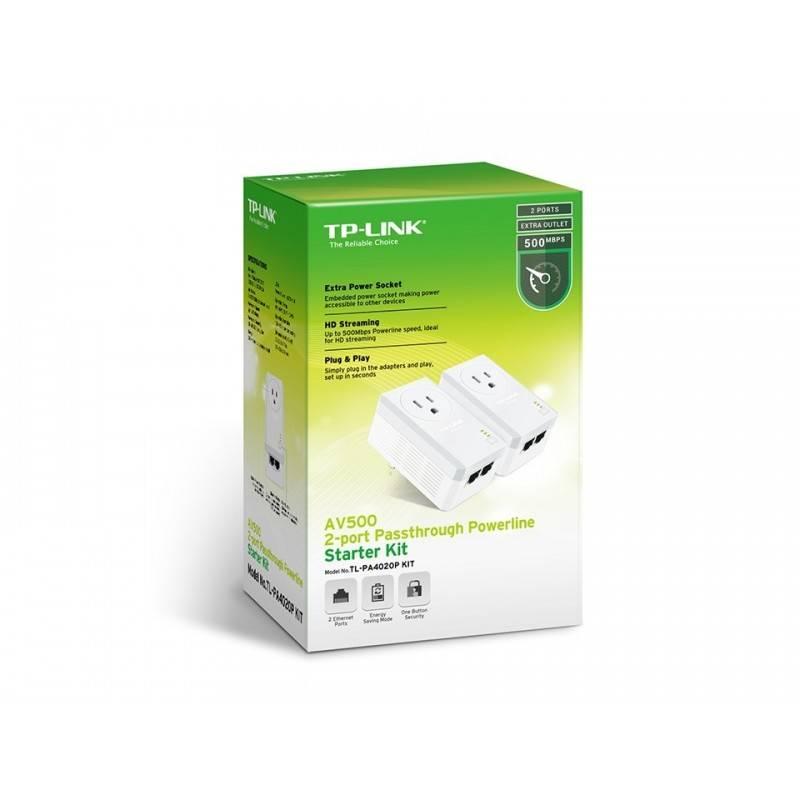 TP-Link PowerLine Adapter TP-Link TL-PA4020P Kit อุปกรณ์ Powerline Adapter Pack คู่ เชื่อมเครือข่าย Network ผ่านสายไฟฟ้าในบ้า...