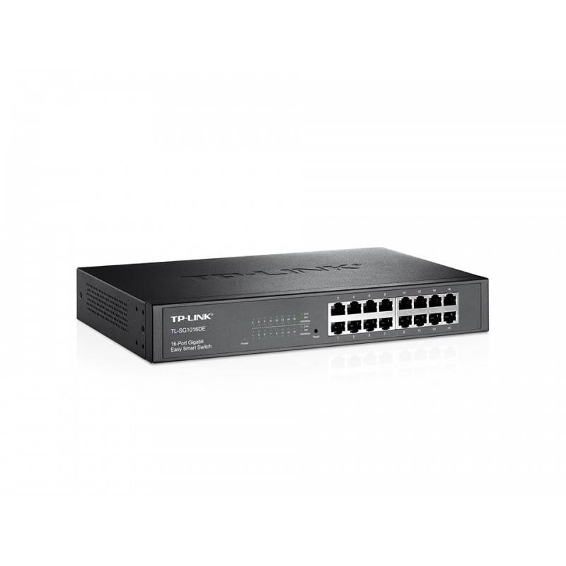 TP-Link Switches, Hub เชื่อมเครือข่ายแบบสาย TP-LINK TL-SG1016DE Easy Smart Gigabit Switch แบบ Rackmount 16 port ความเร็ว Giga...