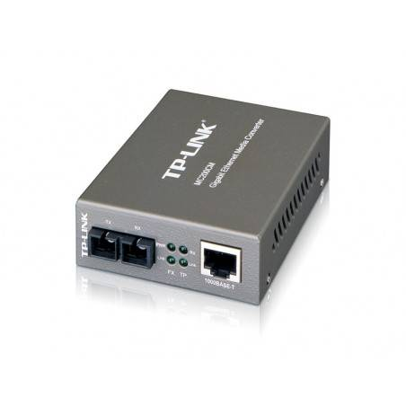 TP-Link MC200CM Gigabit Multi-Mode Media Converter แปลงสัญญาณ UTP เป็น Fiber แบบ MultiMode หัวต่อ SC ระยะ 500m