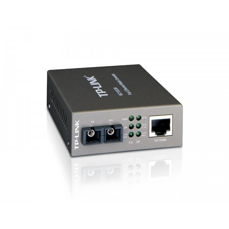 TP-Link MC100CM Multi-Mode Media Converter แปลงสัญญาณจากสาย UTP เป็น Fiber Optic สาย Multi Mode หัวต่อ SC
