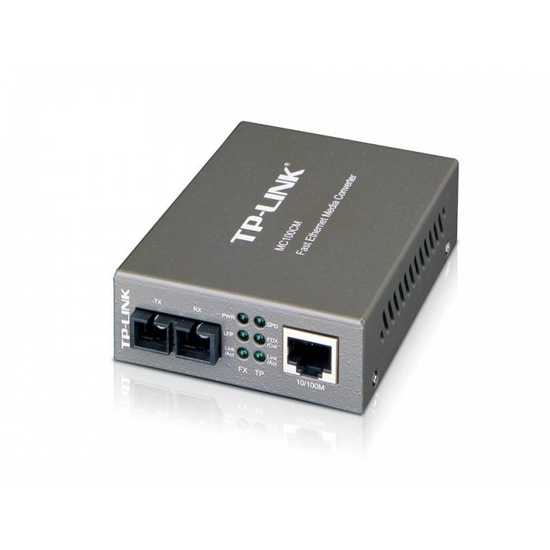 TP-Link MC100CM Multi-Mode Media Converter แปลงสัญญาณจากสาย UTP เป็น Fiber Optic สาย Multi Mode หัวต่อ SC TP-Link (ทีพี-ลิ้งค์)