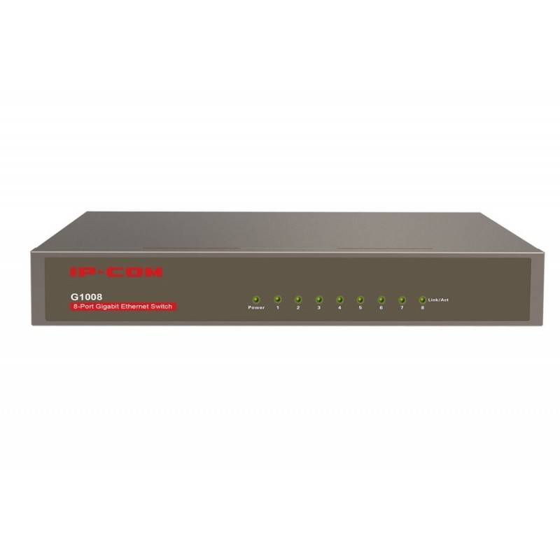 IP-COM IP-COM G1008 Gigabit Switch ขนาด 8 Port ความเร็ว Gigabit รองรับ Loop Guard และ Lightning Protection