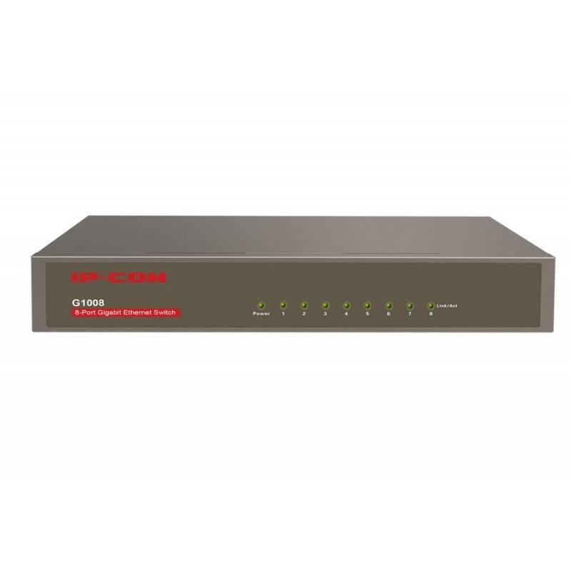 IP-COM IP-COM (ไอพีคอม) IP-COM G1008 Gigabit Switch ขนาด 8 Port ความเร็ว Gigabit รองรับ Loop Guard และ Lightning Protection