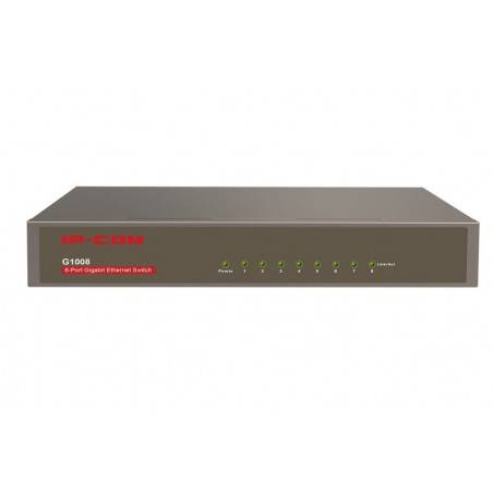 IP-COM G1008 Gigabit Switch ขนาด 8 Port ความเร็ว Gigabit รองรับ Loop Guard และ Lightning Protection
