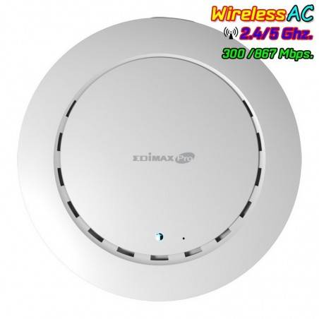 Edimax CAP1200 Ceiling-Mount PoE Access Point มาตรฐาน AC Dual-Band ความเร็ว 1200Mbps รองรับ POE 802.3af