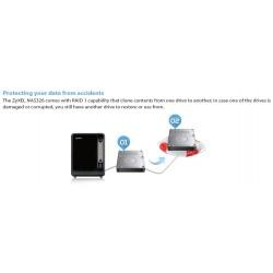 Zyxel NAS326 อุปกรณ์จัดเก็บข้อมูล NAS 2 Bay รองรับ HDD SATA II ความจุ 6TB x 2 ทำ File Sharing/ Media Server/ Bittorrent อุปกร...