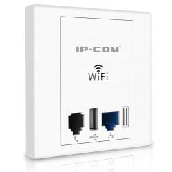 IP-COM IP-COM W30AP Wall Plate Access Point 2.4 ความเร็ว 300Mbps, Lan 2 Port ,1 Port USB รองรับ POE