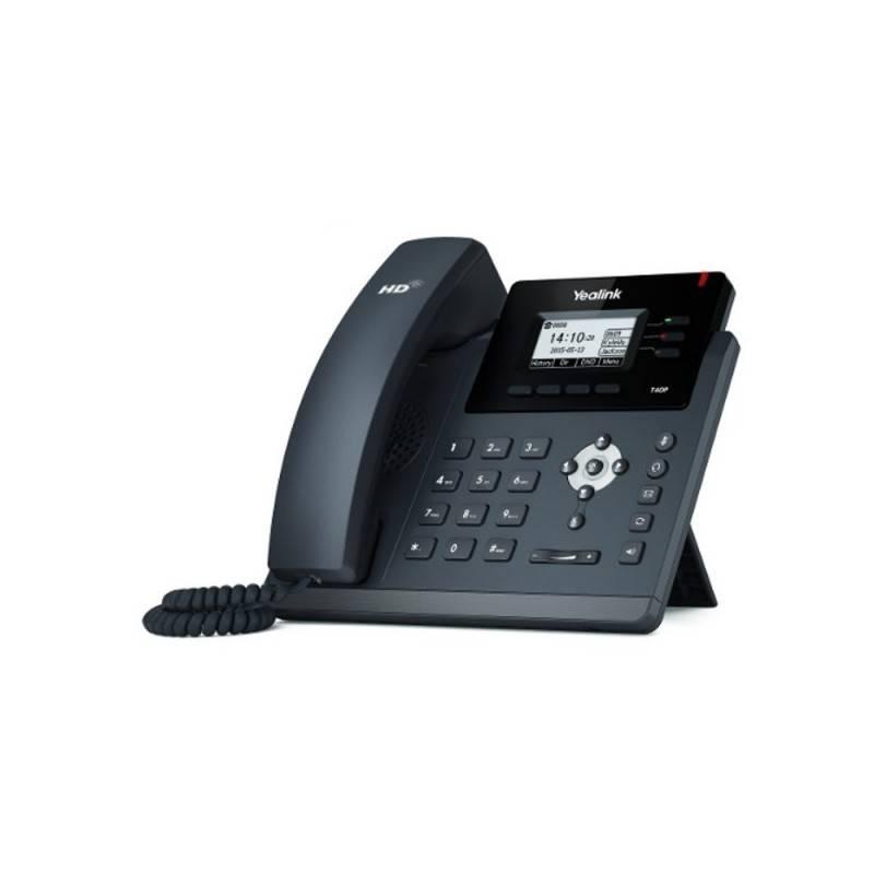 Yealink SIP-T40P โทรศัพท์แบบ IP (IP-Phone) จอ LCD รองรับ 3 SIP Account, HD Voice 2 Port รองรับ POE VOIP / IP-PBX ระบบโทรศัพท์...