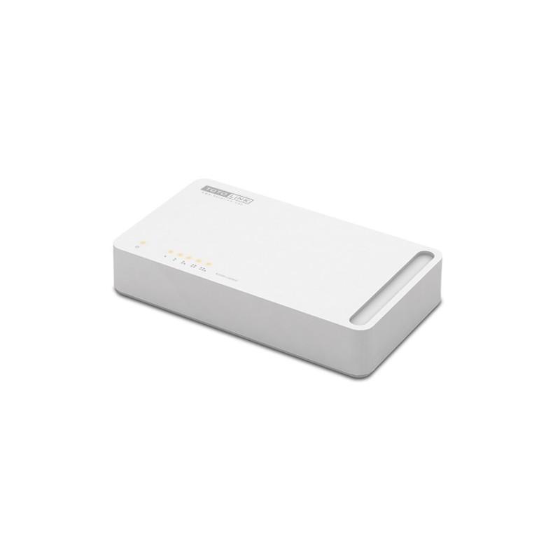 TOTOLink S505 Fast Ethernet Switch แบบ Desktop ขนาด 5 port ความเร็ว 10/100Mbps Switches เชื่อมเครือข่ายแบบสาย