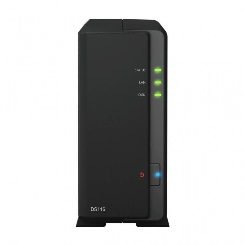 Synology DS116 Network Attatch Storage ขนาด 1Bay สูงสุด 8TB รองรับ Media Streaming, iTune Server, Load Bit อุปกรณ์จัดเก็บข้อม...