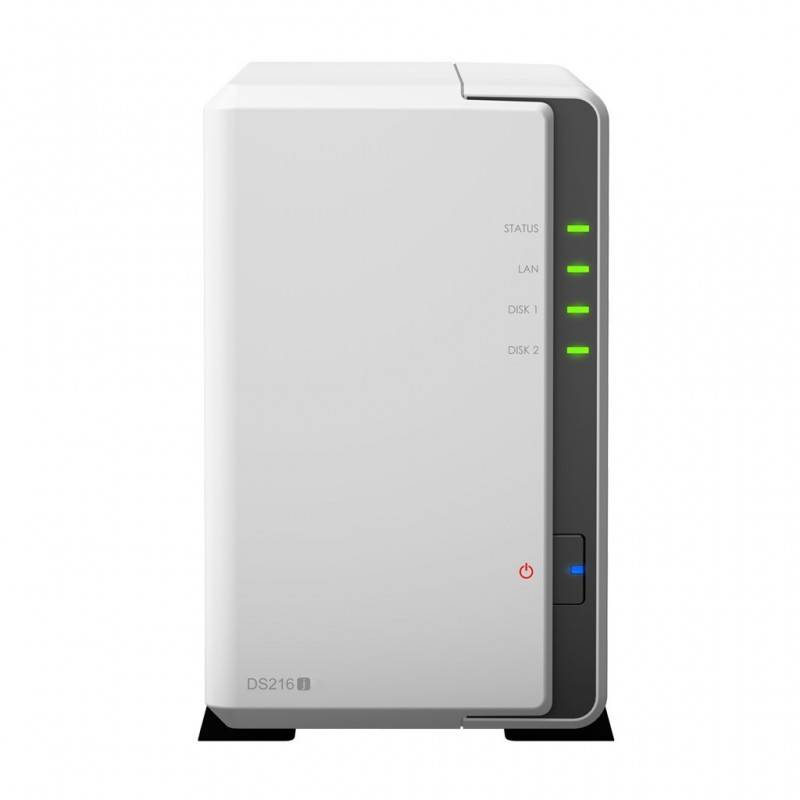 Synology DS216J Network Attatch Storage ขนาด 2Bay สูงสุด 16TB ( 2 x 8TB) รองรับ Media Streaming, iTune Server, Load Bit อุปกร...
