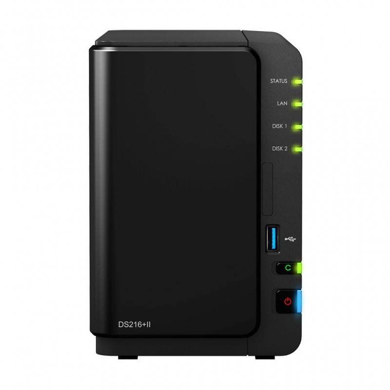Synology DS216+II Network Attatch Storage ขนาด 2Bay สูงสุด 16TB ( 2 x 8TB) รองรับ Media Streaming, iTune Server, Load Bit อุป...