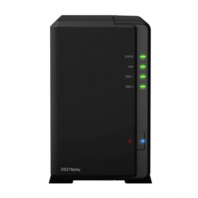 Synology DS216Play Network Attatch Storage ขนาด 2Bay สูงสุด 12TB (2 x 6TB) รองรับ Media Streaming, iTune Server, Load Bit อุป...