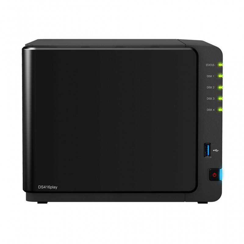 Synology Synology DS416Play Network Attatch Storage ขนาด 4Bay สูงสุด 40TB รองรับ Media Streaming, iTune Server, Load Bit