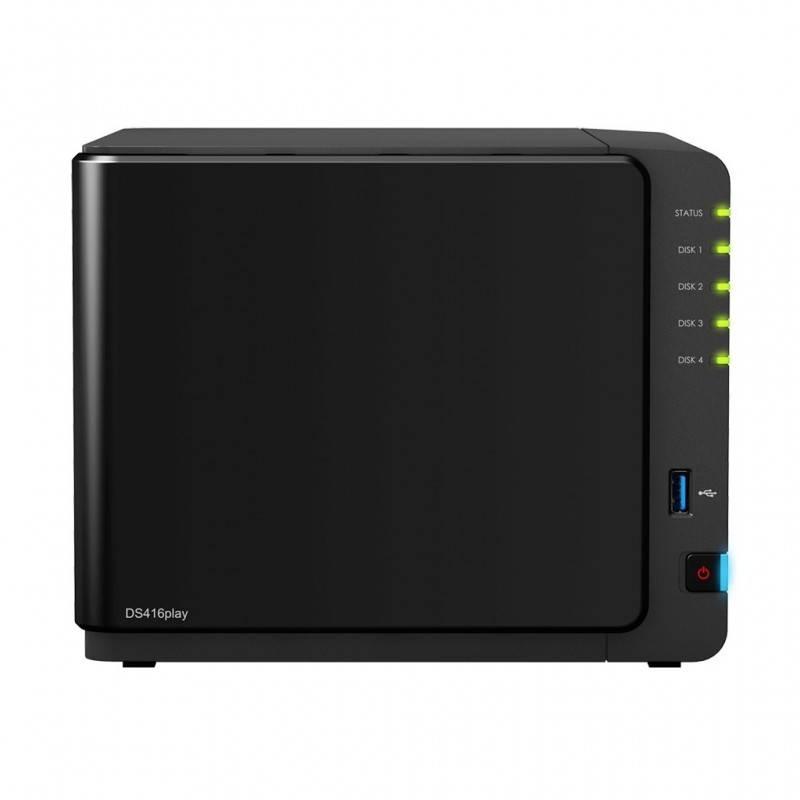 Synology DS416Play Network Attatch Storage ขนาด 4Bay สูงสุด 40TB รองรับ Media Streaming, iTune Server, Load Bit อุปกรณ์จัดเก็...
