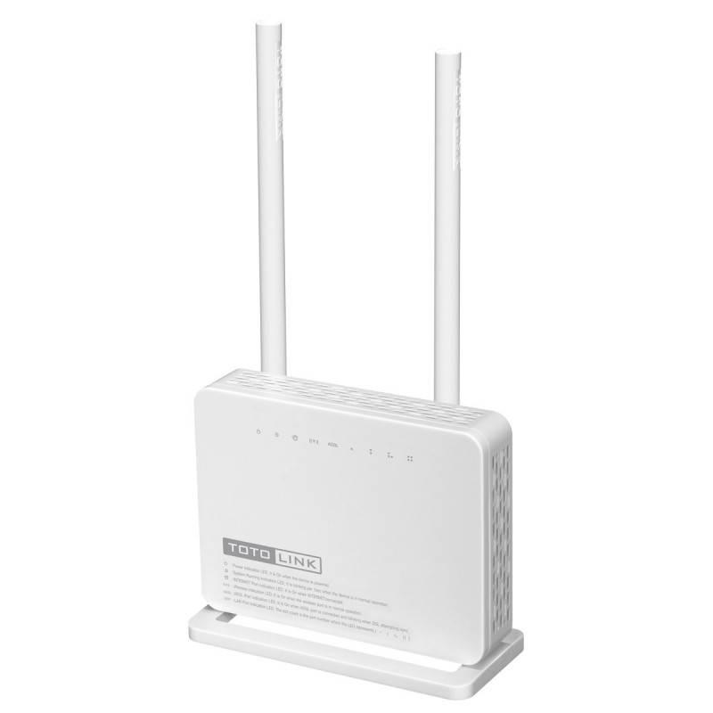 TOTOLINK ND300 ADSL+2 Modem Wireless N Router ความถี่ 2.4GHz ความเร็ว 300Mbps, 4 Port Lan 100Mbps ราคาประหยัด Wireless Broadb...