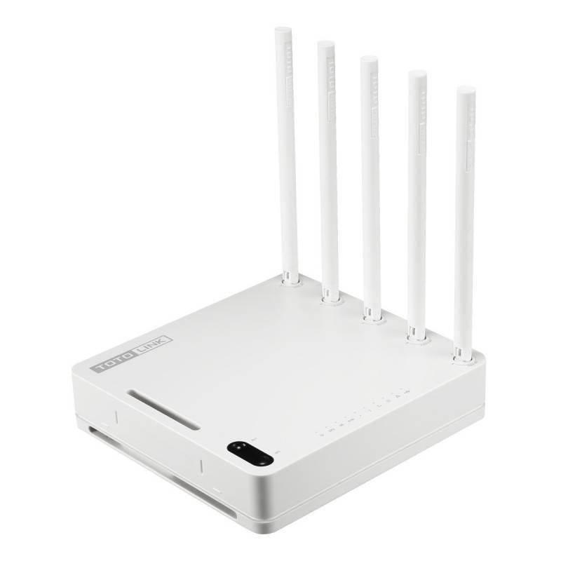 TOTOLINK A5004NS Wireless AC Router ความถี่ Dual-Band 2.4/5GHz ความเร็วสูงสุด 1300Mbps, 4 Port Lan Gigabit Broadband Router