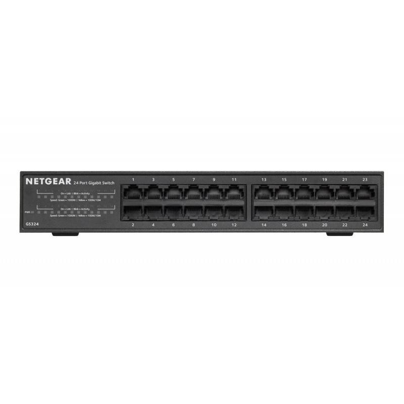 NETGEAR GS324 Gigabit Switch ขนาด 24 Port ความเร็ว 1000Mbps Case เหล็ก Switches เชื่อมเครือข่ายแบบสาย