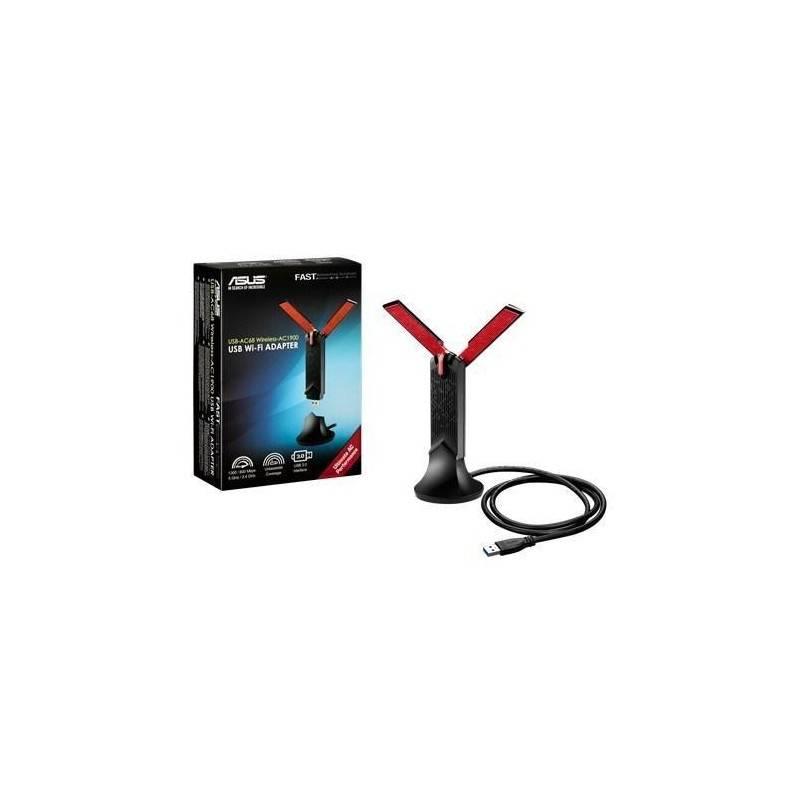 ASUS USB-AC68 Wireless USB Adapter มาตรฐาน AC แบบ Dual-Band 2.4/5 GHz ความเร็วสูงสุด 600/1300Mbps Wireless Adapter (รับสัญญาณ...