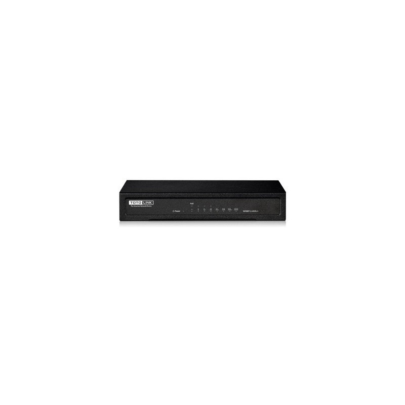 TOTOLINK SW804P Fast Ethernet POE Switch ขนาด 8 port ความเร็ว 10/100Mbps จ่ายไฟ POE 802.3af x 4 Port Switches เชื่อมเครือข่าย...