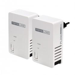 TOTOLINK PL200 KIT 200Mbps Power Line Adapter Pack คู่ เชื่อมเครือข่ายผ่านสายไฟฟ้า ความเร็วสูงสุด 200Mbps ระยะไกลสุด 300 เมตร