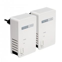 TOTOLINK TOTOLINK PL200 KIT 200Mbps Power Line Adapter Pack คู่ เชื่อมเครือข่ายผ่านสายไฟฟ้า ความเร็วสูงสุด 200Mbps ระยะไกลสุด...