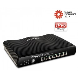 DrayTek DrayTek (เดรเทค) DrayTek Vigor2925n Dual WAN Load-balance VPN Router, Wireless N 2.4Ghz VPN 50 Tunnels, 3G USBx2