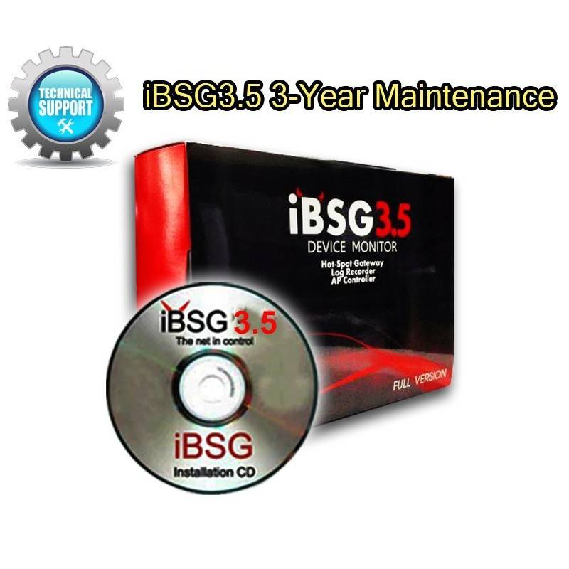 iBSG3.5 3-Year Maintenance License ต่ออายุบริการการ Support iBSG Software 3 ปี ระบบ Hotspot จัดเก็บ Log