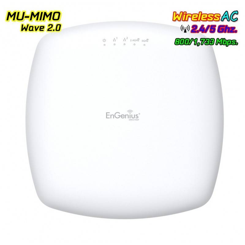 EnGenius EWS370AP Neutron Series AP Dual Band AC2600 MU-MIMO Wave 2 Speed 1,733 Mbps Wireless AccessPoint (กระจายสัญญาณ WIFI)