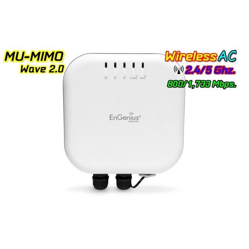 EnGenius EWS870AP Neutron Series Outdoor AP 4x4 Dual Band AC2600 MU-MIMO Wave 2 1,733 Mbps Wireless AccessPoint (กระจายสัญญาณ...