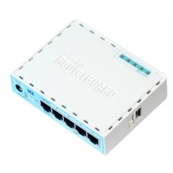 Mikrotik Router RB750Gr3 (hEX) CPU 880MHz Ram 256MB 5 port Gigabit, USB, ROS LV.4